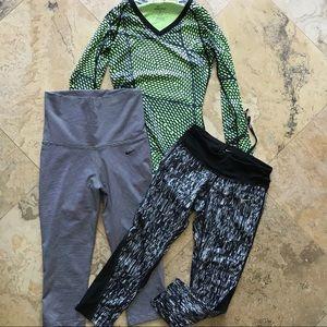Nike dri-fit & pro bundle leggings & top XS